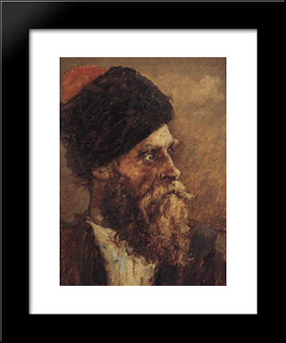 Cossack Dmitry Sokol: Modern Black Framed Art Print by Vasily Surikov