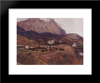 Crimea. Ai-Petri.: Modern Black Framed Art Print by Vasily Surikov