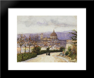 Florence. Walk.: Modern Black Framed Art Print by Vasily Surikov