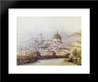 Florence: Modern Black Framed Art Print by Vasily Surikov