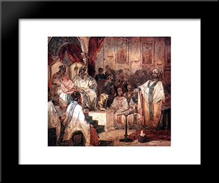 Fourth Ecumenical Council Of Chalcedon: Modern Black Framed Art Print by Vasily Surikov
