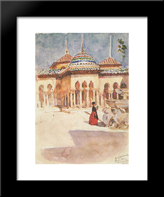 Granada. Alhambra.: Modern Black Framed Art Print by Vasily Surikov