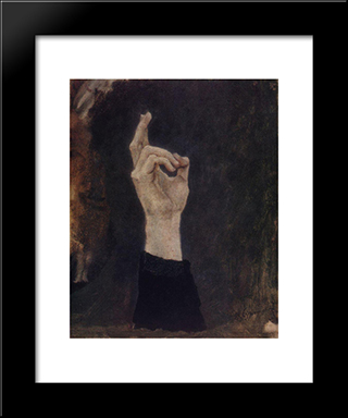 Hand Of Boyarynya Morozova: Modern Black Framed Art Print by Vasily Surikov