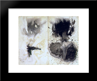 Composition With Taches: Modern Black Framed Art Print by Victor Hugo