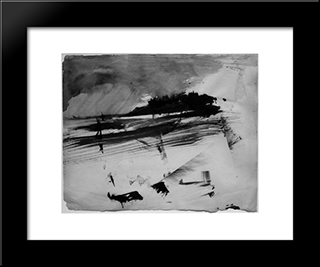 Evacuation Of An Island: Modern Black Framed Art Print by Victor Hugo