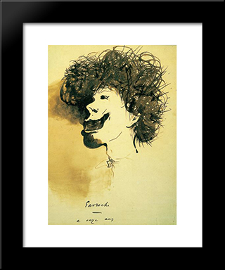 Gavroche At 11 Years Old: Modern Black Framed Art Print by Victor Hugo