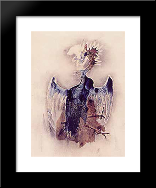 Heraldic Eagle: Modern Black Framed Art Print by Victor Hugo