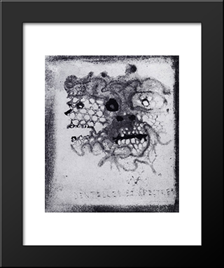 Lace And Ghosts: Modern Black Framed Art Print by Victor Hugo