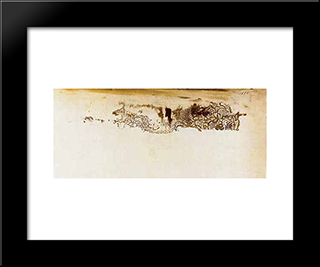 Lace Impression, Spectral Form: Modern Black Framed Art Print by Victor Hugo