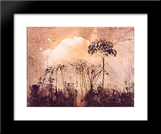 Le Gai Chateau: Modern Black Framed Art Print by Victor Hugo