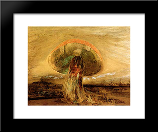 Mushroom: Modern Black Framed Art Print by Victor Hugo