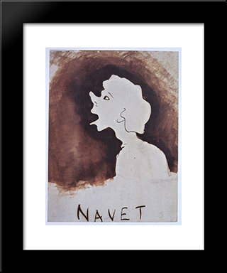 Navet: Modern Black Framed Art Print by Victor Hugo
