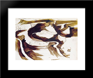 Our Valley: Modern Black Framed Art Print by Victor Hugo