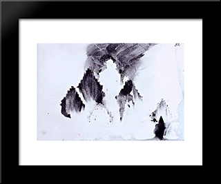 Pattern Composition: Modern Black Framed Art Print by Victor Hugo
