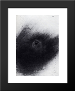 Planet: Modern Black Framed Art Print by Victor Hugo