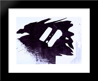 Silhouette Fantastique: Modern Black Framed Art Print by Victor Hugo
