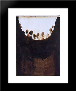 Taches With Fingerprints: Modern Black Framed Art Print by Victor Hugo