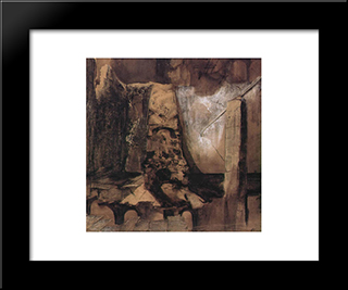 The Key Is Here, The Gate Elsewhere: Modern Black Framed Art Print by Victor Hugo