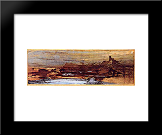 The Upper Rhine: Modern Black Framed Art Print by Victor Hugo