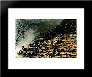 Torquemada: Modern Black Framed Art Print by Victor Hugo