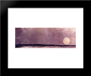 Twilight: Modern Black Framed Art Print by Victor Hugo