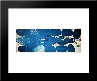 A Tree Full Of Birds 2: Modern Black Framed Art Print by Victor Pasmore