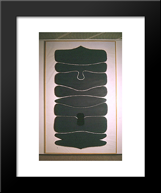 Appollo 1 Ascending Development: Modern Black Framed Art Print by Victor Pasmore