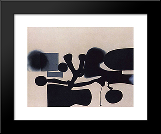 Harmony Of Opposites: Modern Black Framed Art Print by Victor Pasmore
