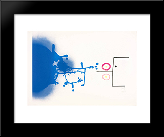 Sun And Sky: Modern Black Framed Art Print by Victor Pasmore