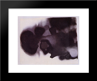 The Cloud: Modern Black Framed Art Print by Victor Pasmore