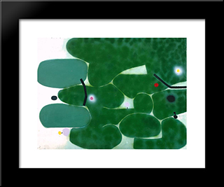 The Green Earth: Modern Black Framed Art Print by Victor Pasmore