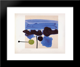 The Passion Flower: Modern Black Framed Art Print by Victor Pasmore