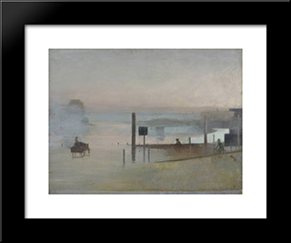The Quiet River. The Thames At Chiswick: Modern Black Framed Art Print by Victor Pasmore