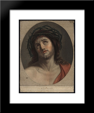 Ecce Homo: Modern Black Framed Art Print by Vieira Portuense