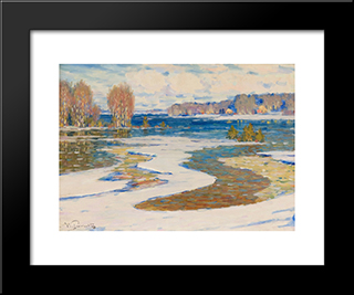 Agrs Pavasaris: Modern Black Framed Art Print by Vilhelms Purvitis