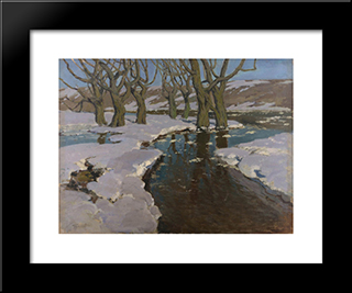 Early Spring: Modern Black Framed Art Print by Vilhelms Purvitis
