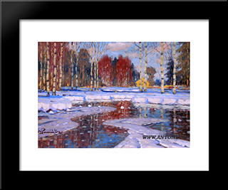 Pavasaris: Modern Black Framed Art Print by Vilhelms Purvitis