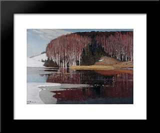 Spring Waters: Modern Black Framed Art Print by Vilhelms Purvitis