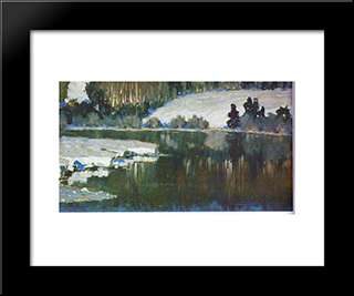 Unknown Title: Modern Black Framed Art Print by Vilhelms Purvitis