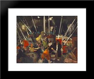 Circus: Modern Black Framed Art Print by Vilmos Aba Novak