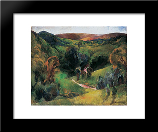 Landscape: Modern Black Framed Art Print by Vilmos Aba Novak