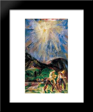 The Light: Modern Black Framed Art Print by Vilmos Aba Novak