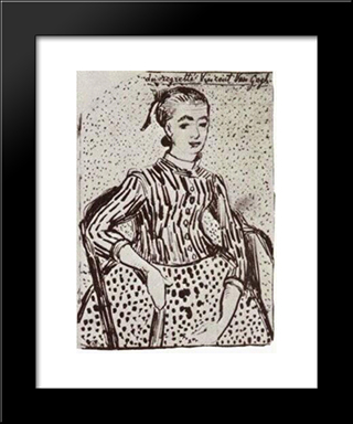 A Mousme, Sitting: Modern Black Framed Art Print by Vincent van Gogh