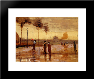 A Sunday In Eindhoven: Modern Black Framed Art Print by Vincent van Gogh