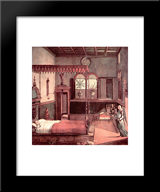 Dream Of St.Ursula: Modern Black Framed Art Print by Vittore Carpaccio
