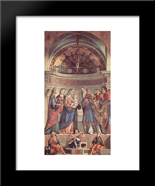 Presentation In The Temple: Modern Black Framed Art Print by Vittore Carpaccio