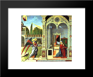 The Annunciation: Modern Black Framed Art Print by Vittore Carpaccio