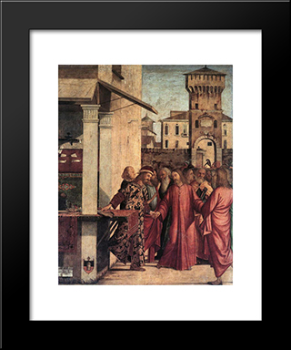 The Calling Of St. Matthew: Modern Black Framed Art Print by Vittore Carpaccio