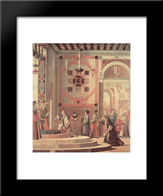 The Departure Of The English Ambassadors: Modern Black Framed Art Print by Vittore Carpaccio