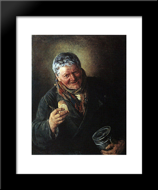 A Deacon: Modern Black Framed Art Print by Vladimir Makovsky